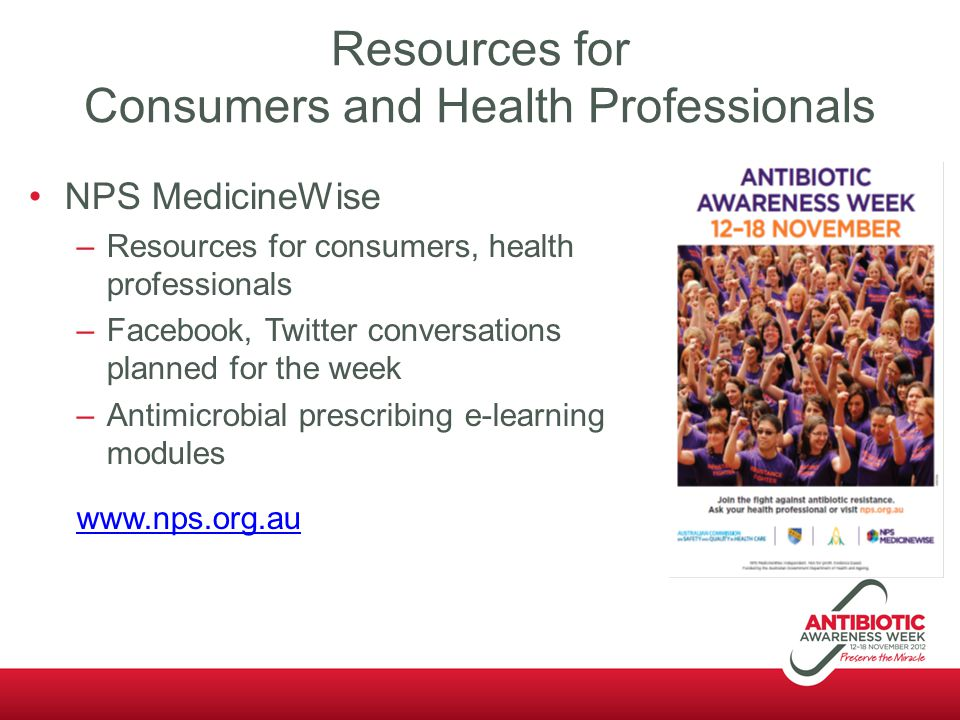Resources for Consumers and Health Professionals