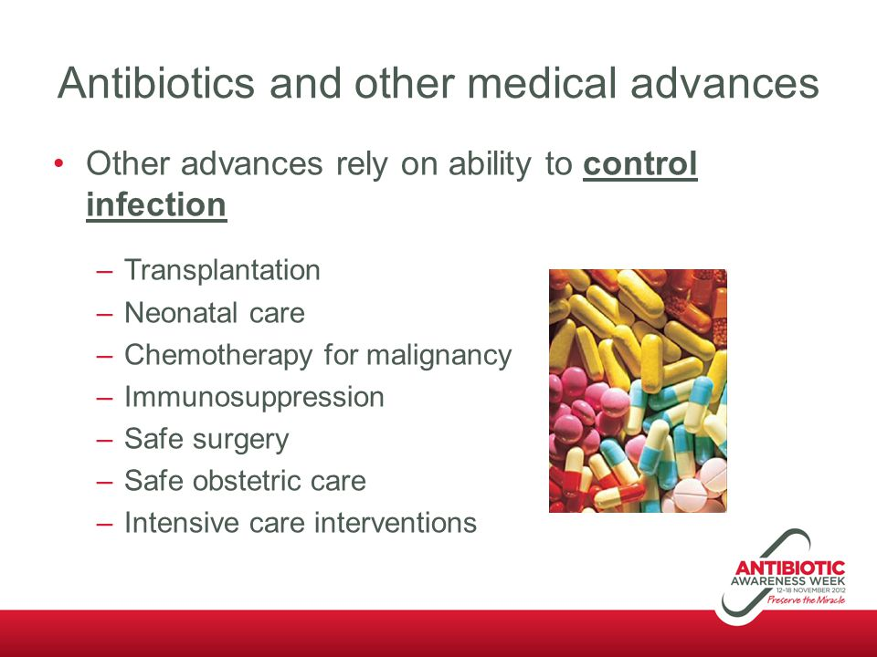 Antibiotics and other medical advances