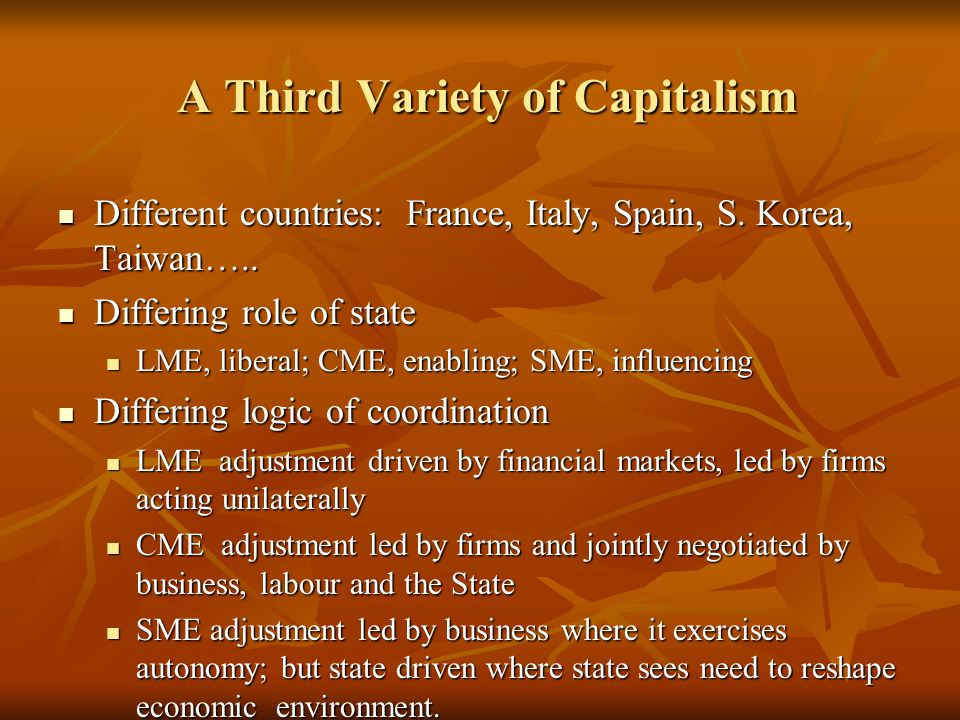 A Third Variety of Capitalism