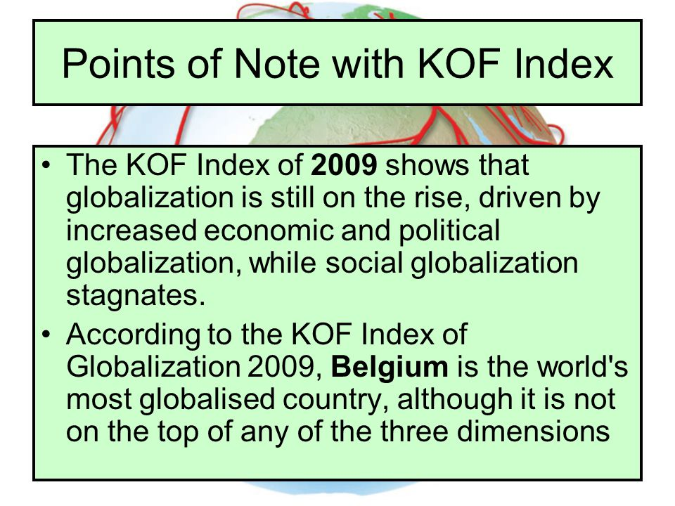 Points of Note with KOF Index