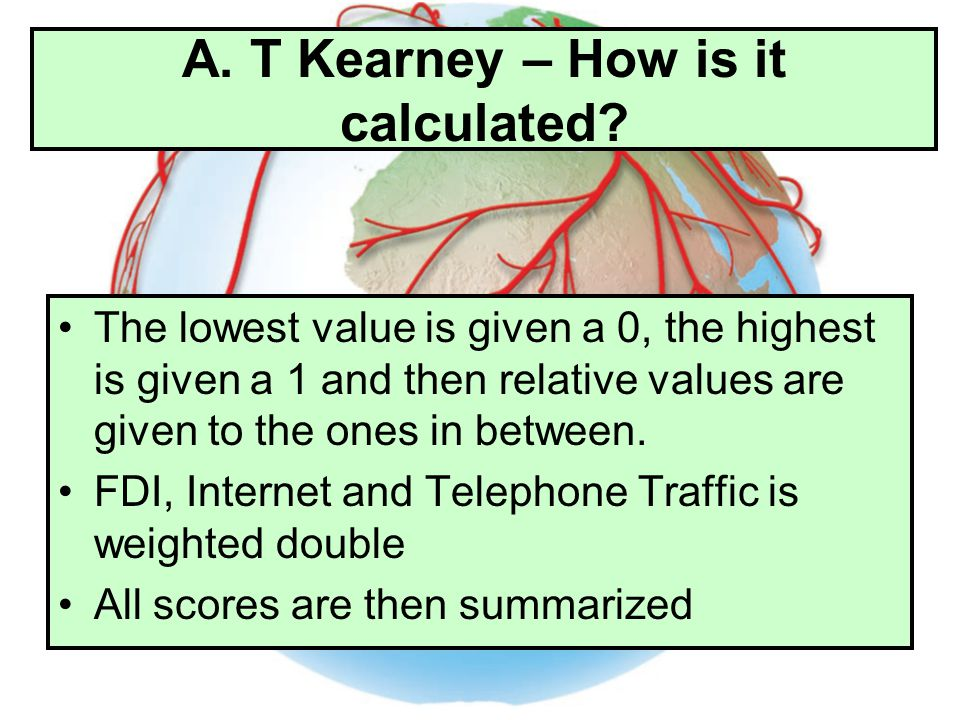 A. T Kearney – How is it calculated