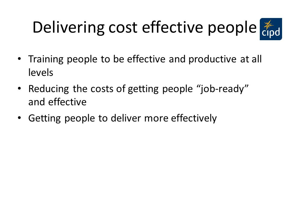 Delivering cost effective people