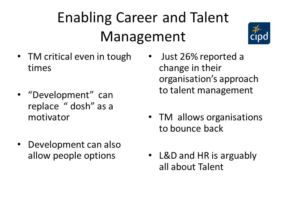 Enabling Career and Talent Management