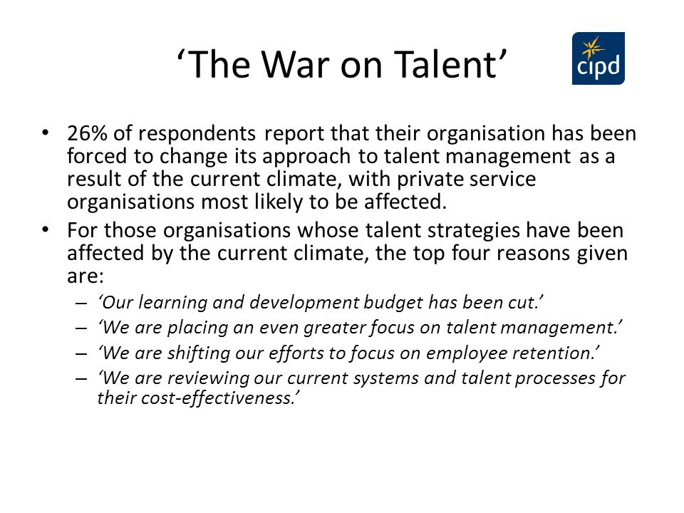 'The War on Talent'