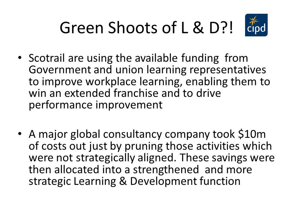 Green Shoots of L & D !