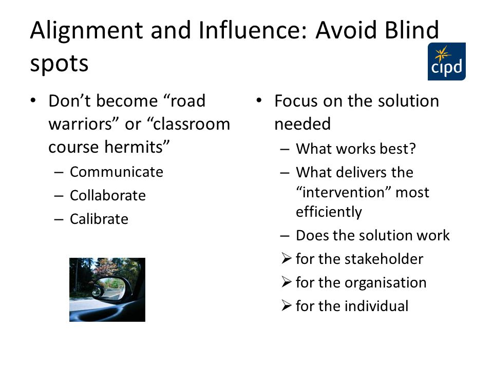 Alignment and Influence: Avoid Blind spots