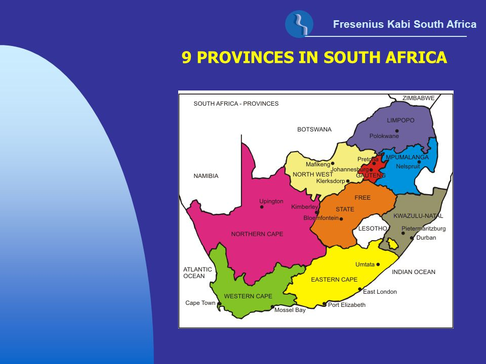 9 PROVINCES IN SOUTH AFRICA