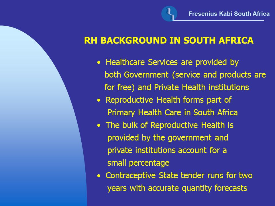 RH BACKGROUND IN SOUTH AFRICA