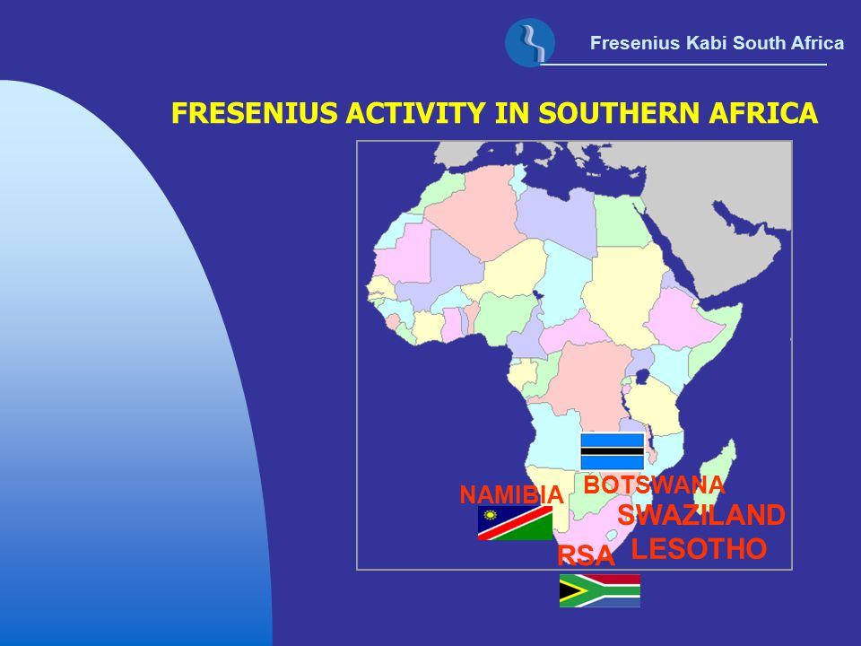 FRESENIUS ACTIVITY IN SOUTHERN AFRICA