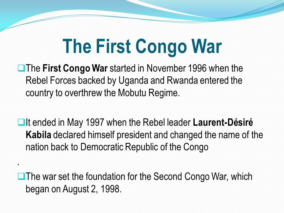 The First Congo War