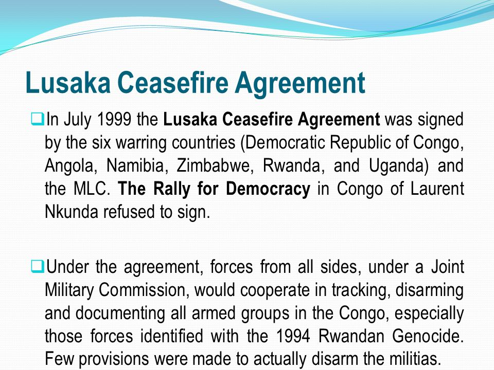Lusaka Ceasefire Agreement