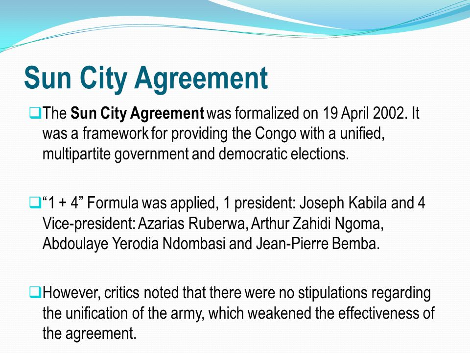 Sun City Agreement