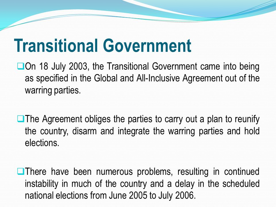 Transitional Government