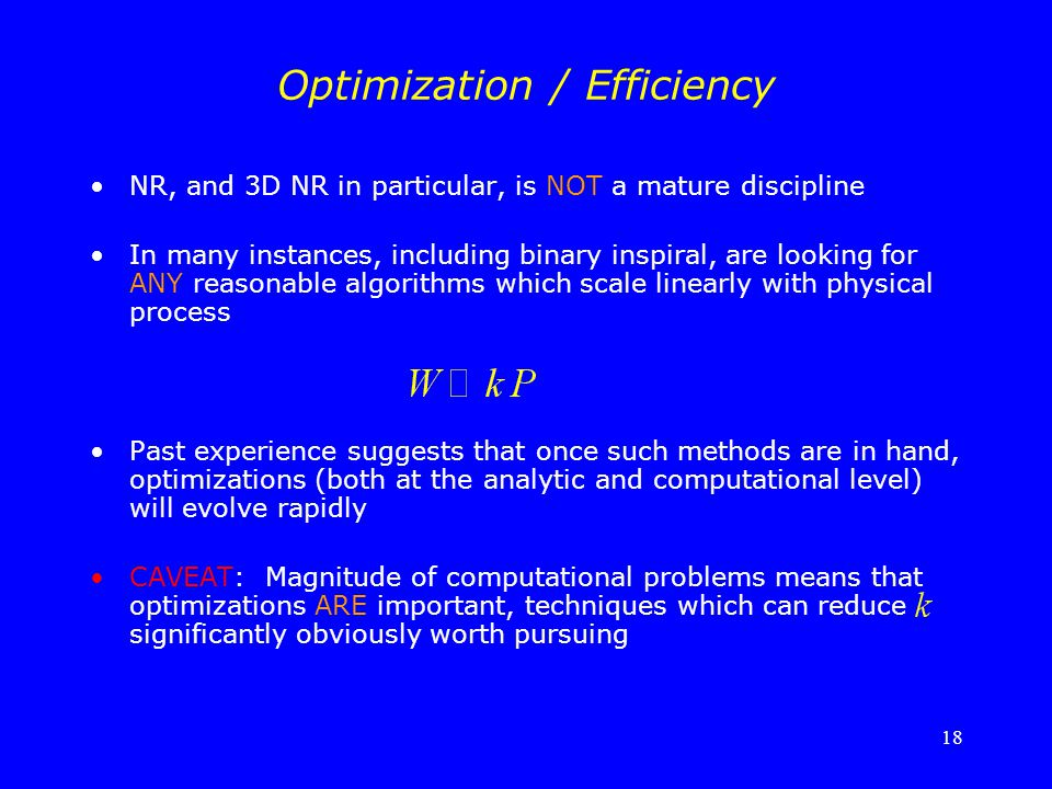 Optimization / Efficiency