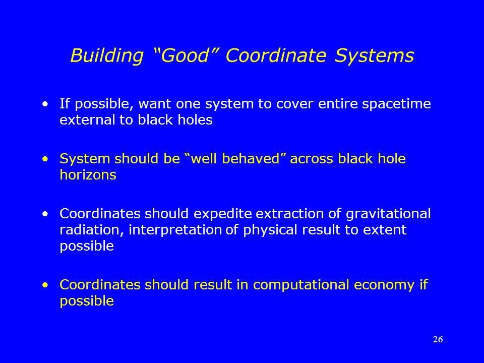 Building Good Coordinate Systems
