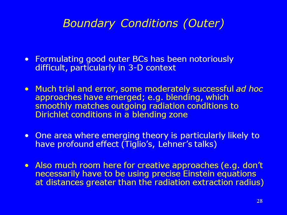 Boundary Conditions (Outer)