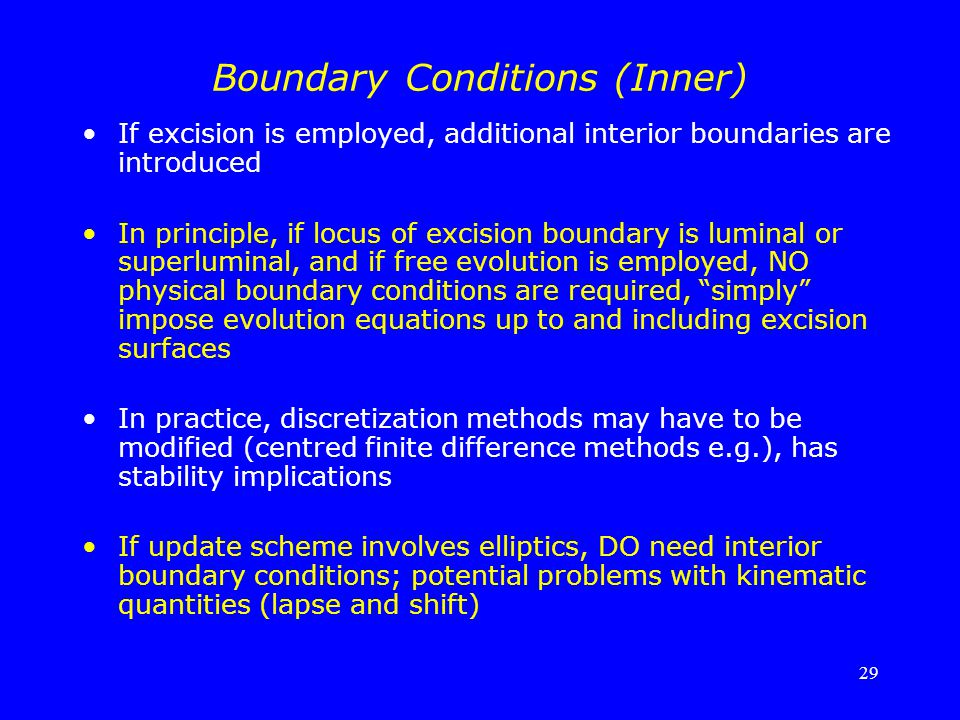 Boundary Conditions (Inner)