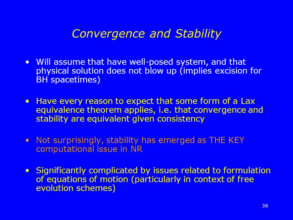 Convergence and Stability