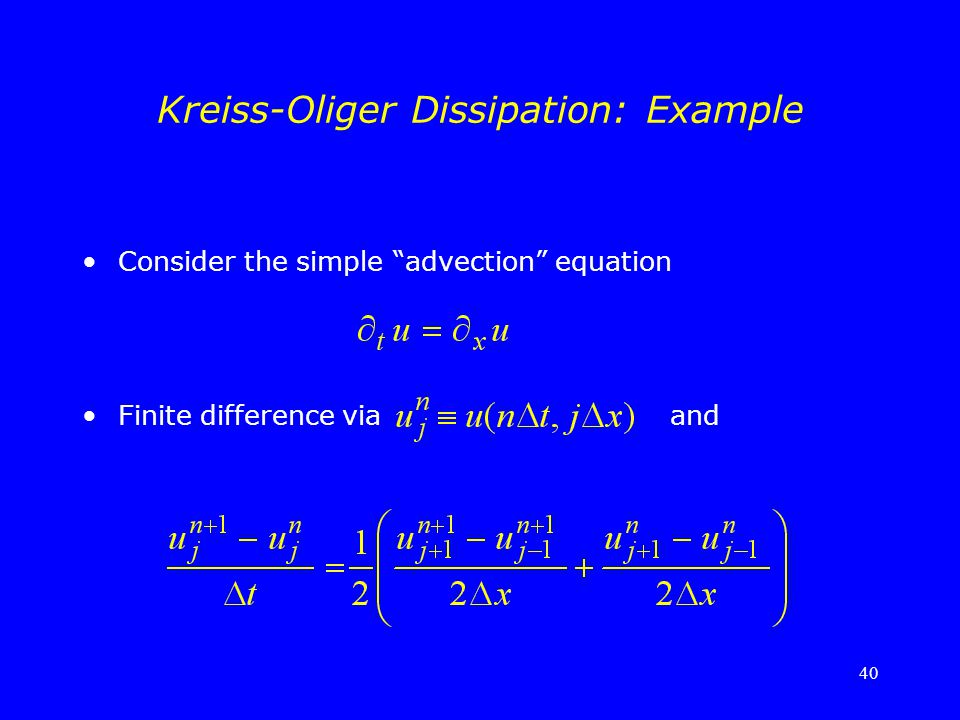Kreiss-Oliger Dissipation: Example