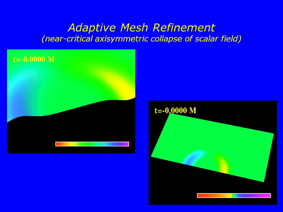 Adaptive Mesh Refinement (near-critical axisymmetric collapse of scalar field)
