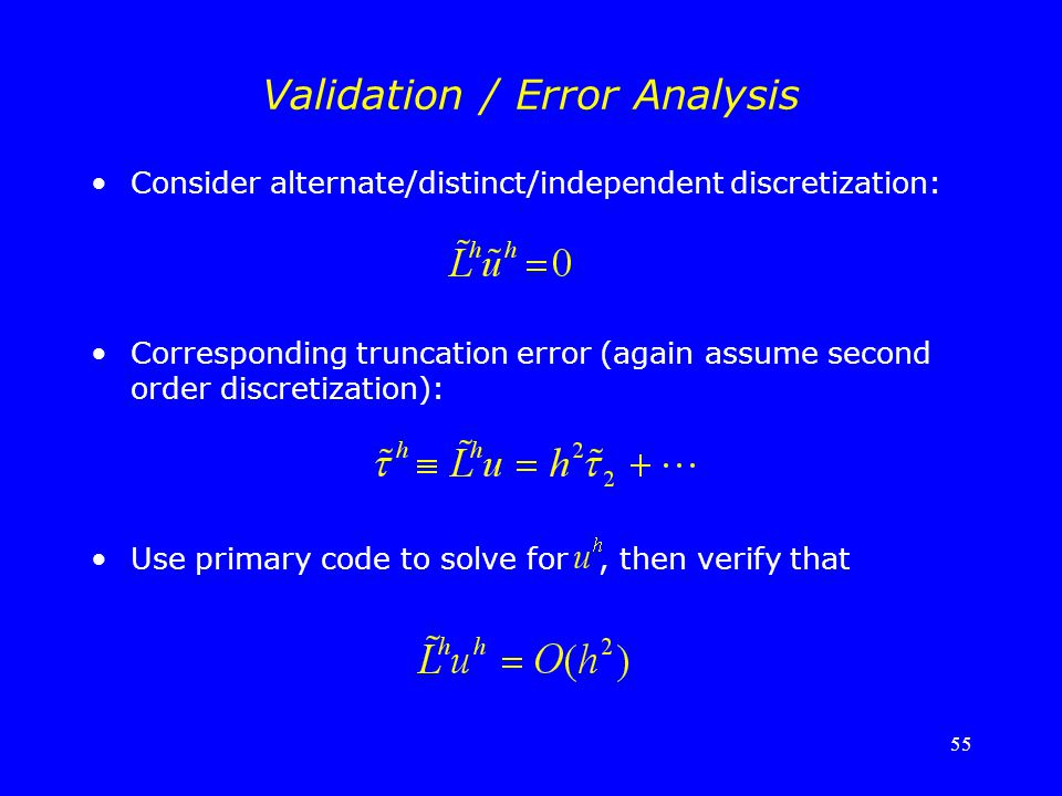 Validation / Error Analysis