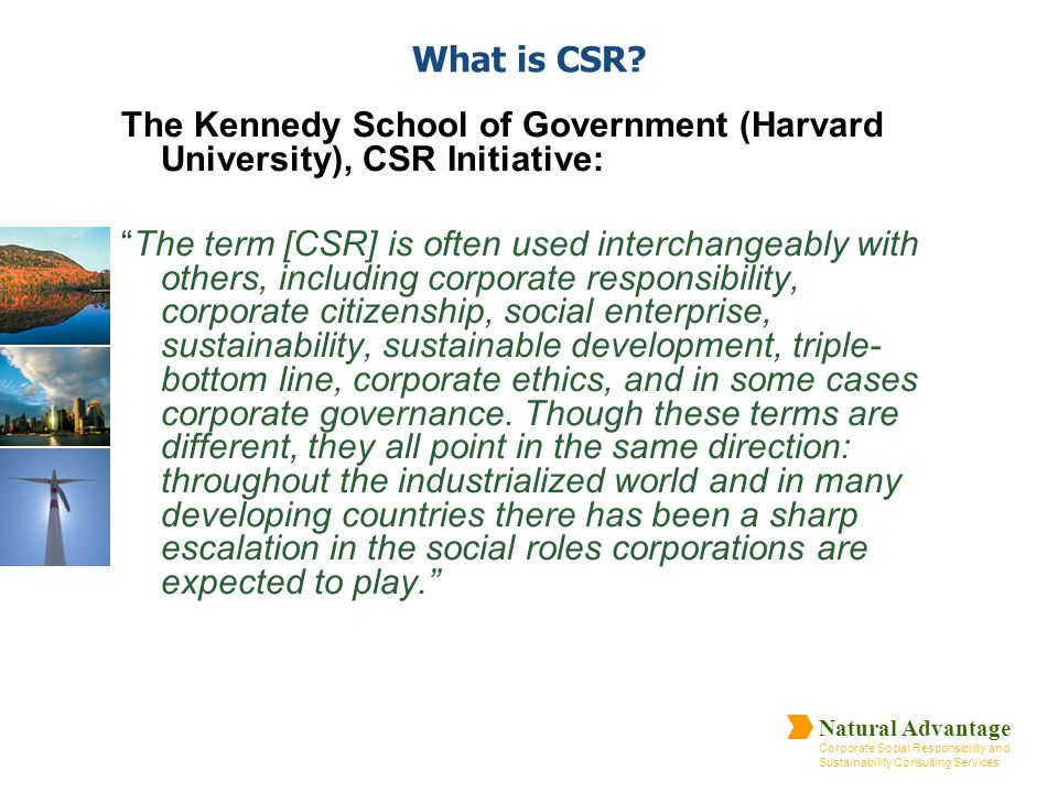 What is CSR The Kennedy School of Government (Harvard University), CSR Initiative: