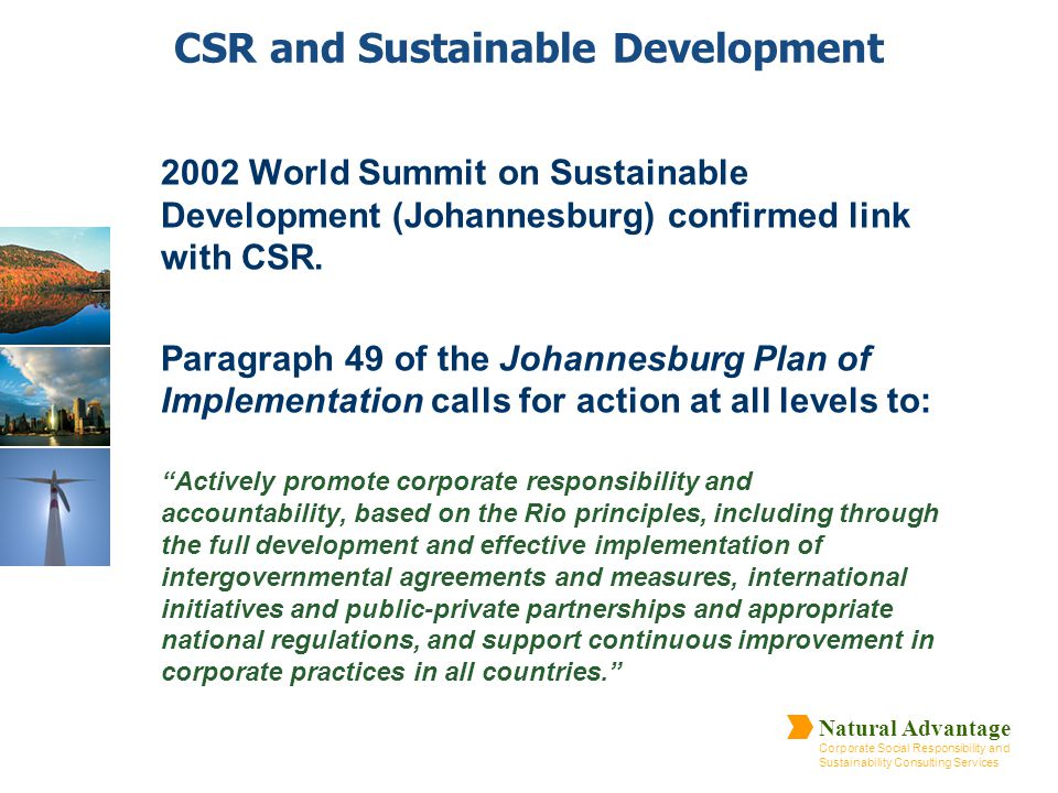 CSR and Sustainable Development