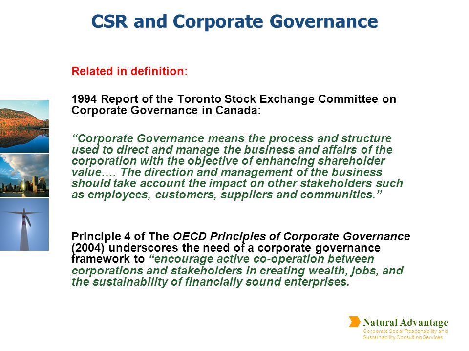 CSR and Corporate Governance