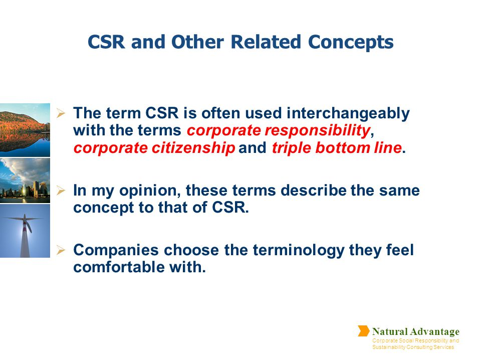 CSR and Other Related Concepts