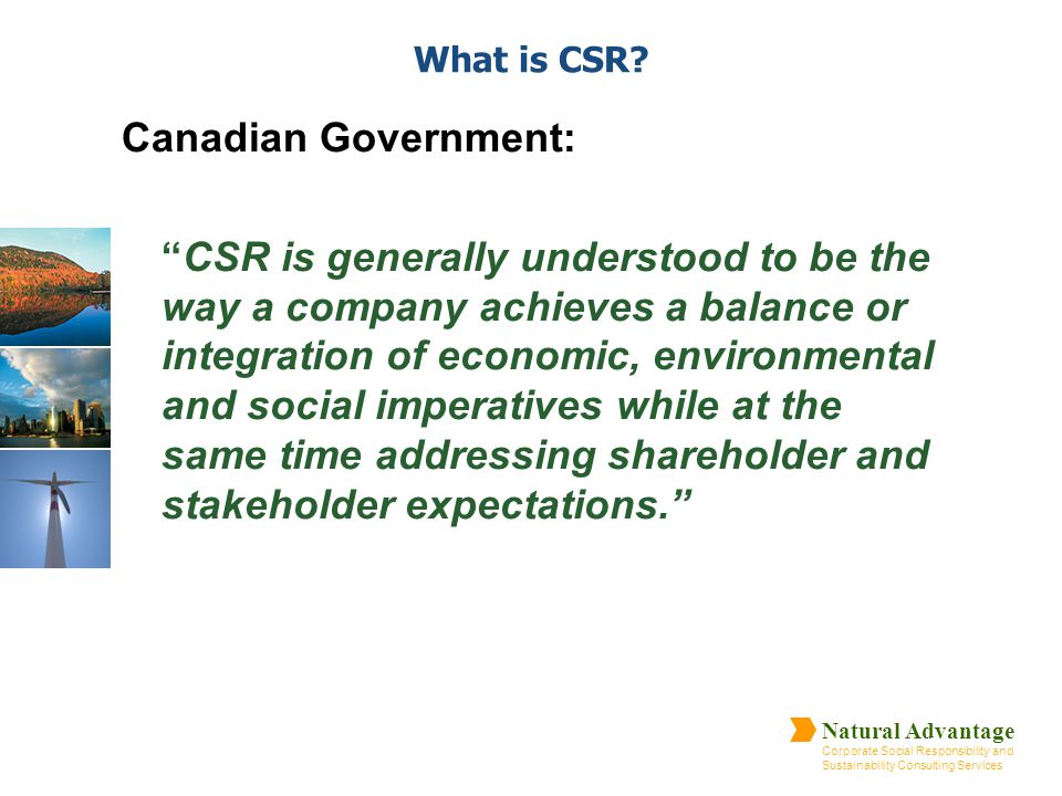 What is CSR Canadian Government: