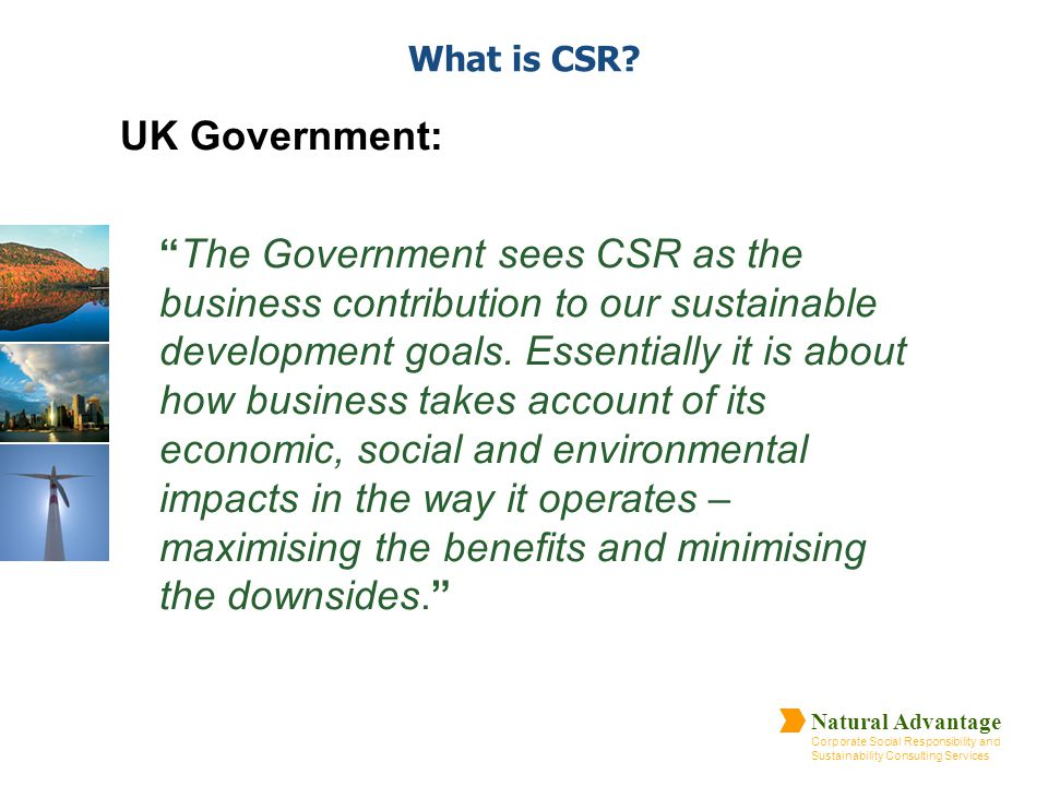 What is CSR UK Government: