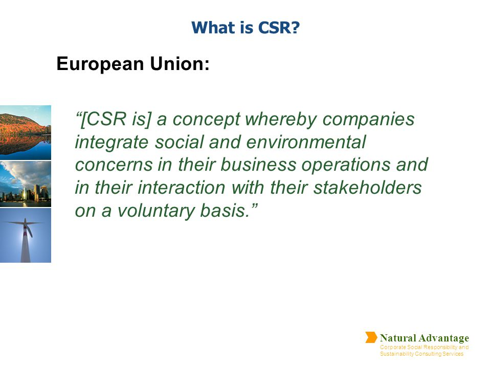 What is CSR European Union: