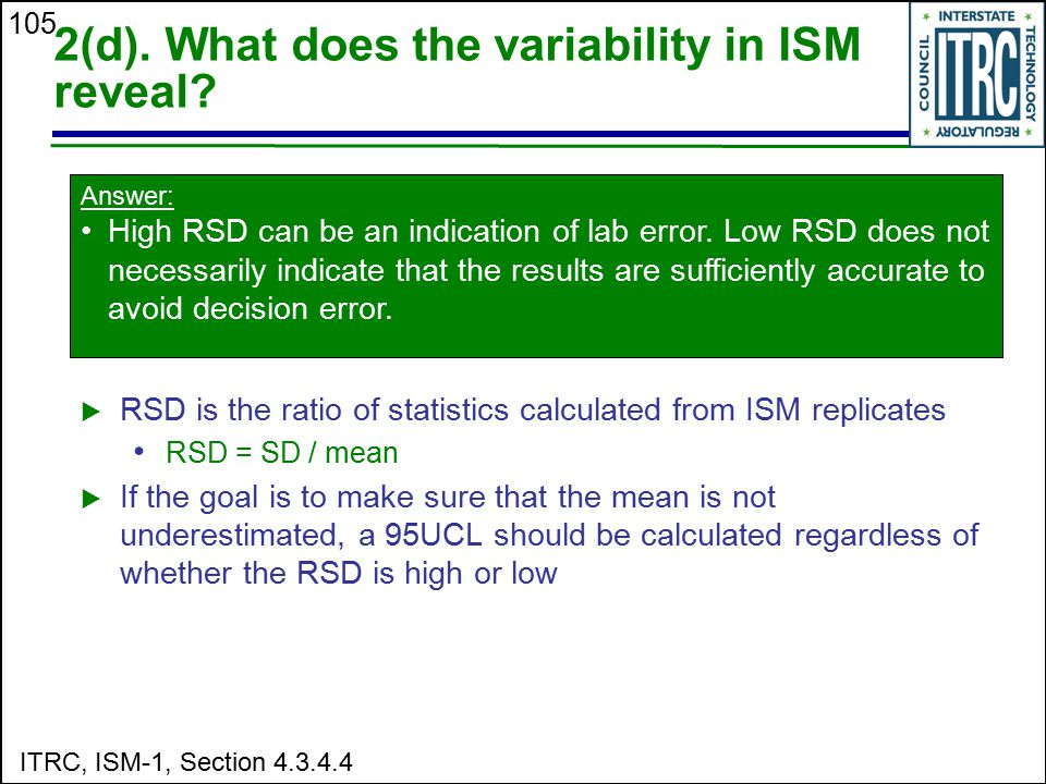 2(d). What does the variability in ISM reveal