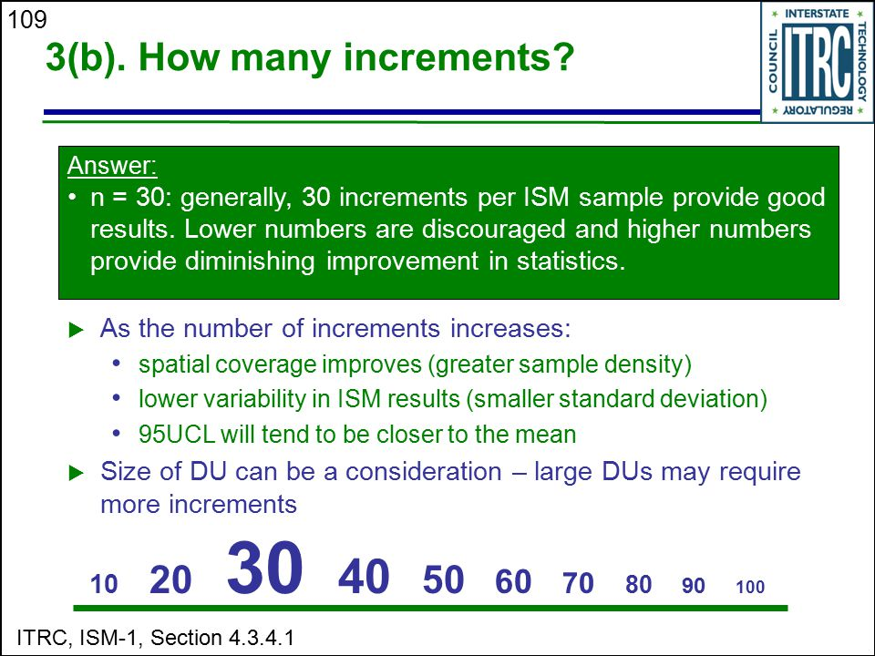 3(b). How many increments