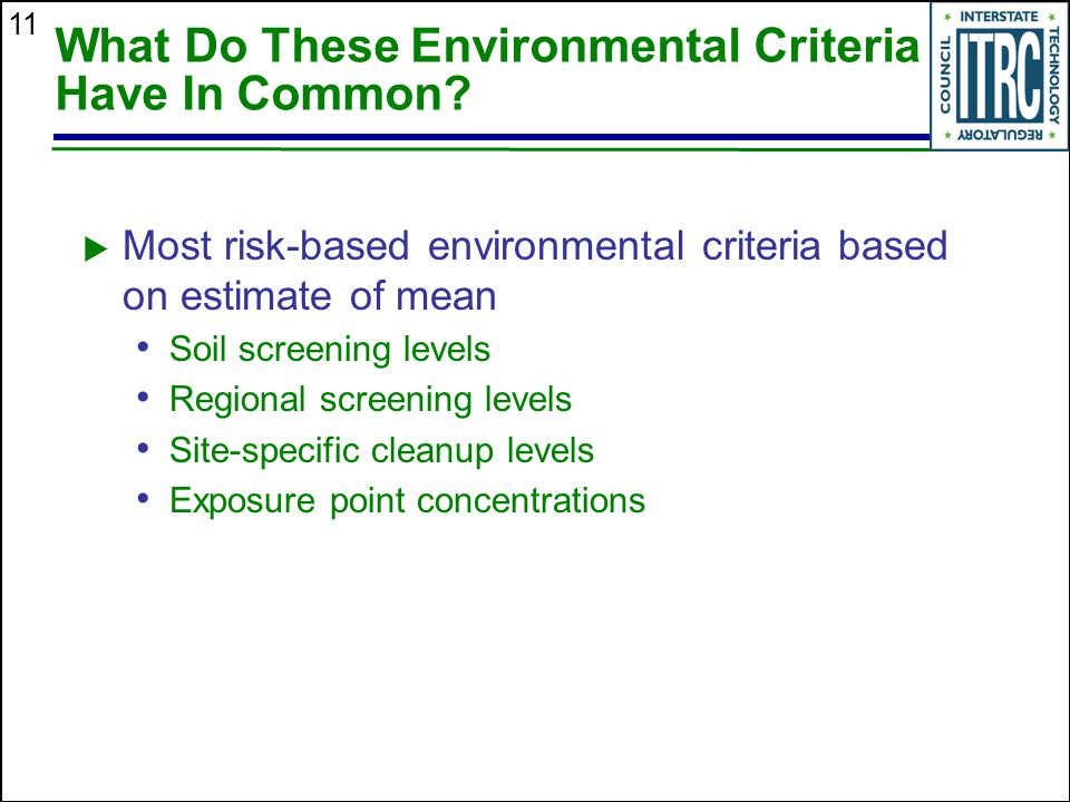 What Do These Environmental Criteria Have In Common