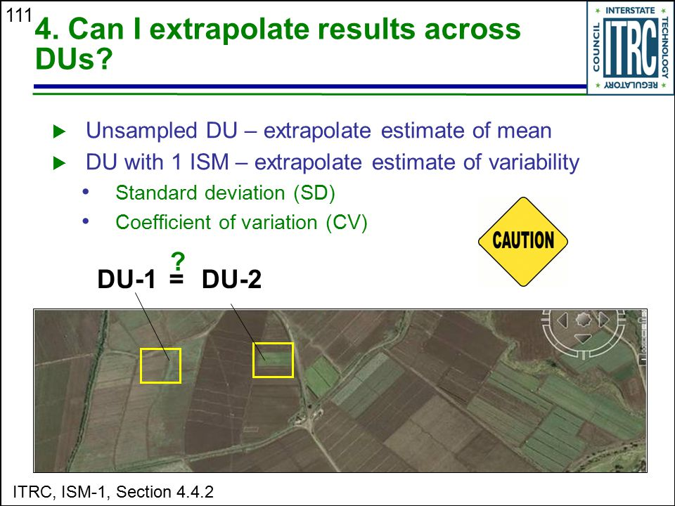 4. Can I extrapolate results across DUs