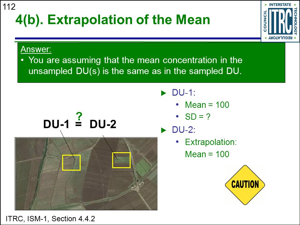 4(b). Extrapolation of the Mean