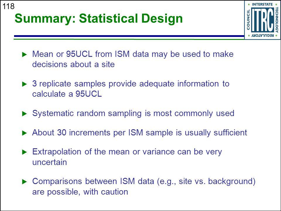 Summary: Statistical Design