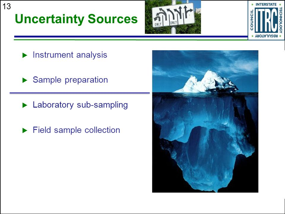 Uncertainty Sources Instrument analysis Sample preparation