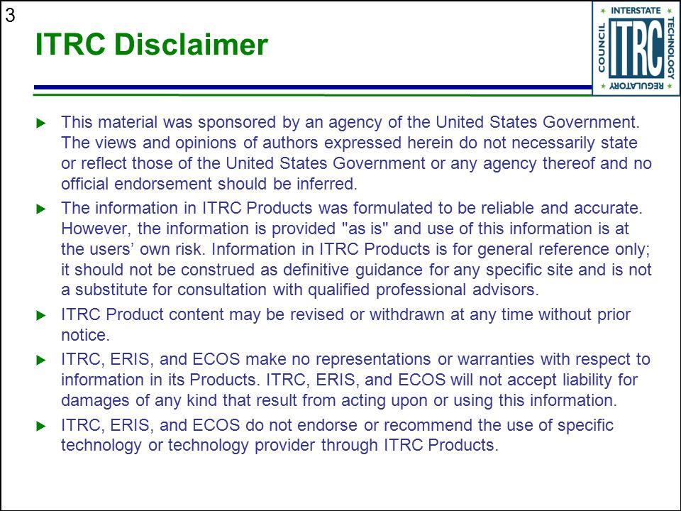 ITRC Disclaimer