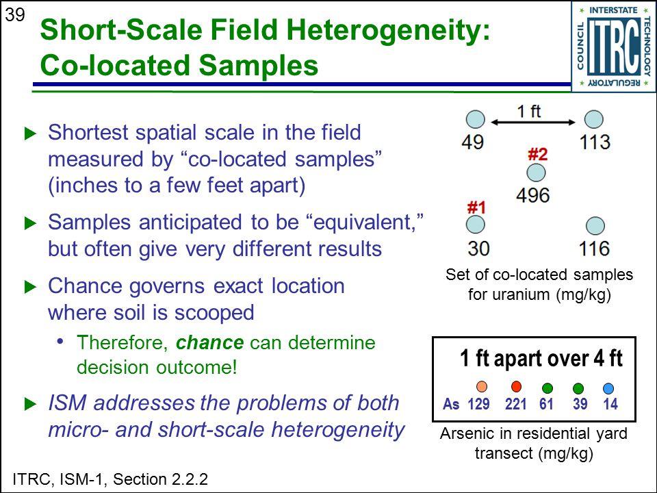 Short-Scale Field Heterogeneity: Co-located Samples