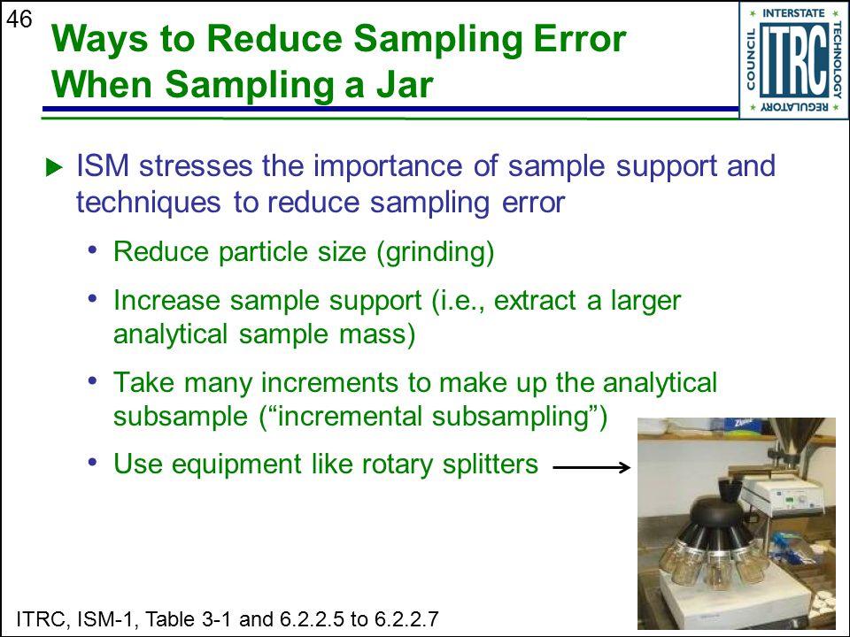 Ways to Reduce Sampling Error When Sampling a Jar