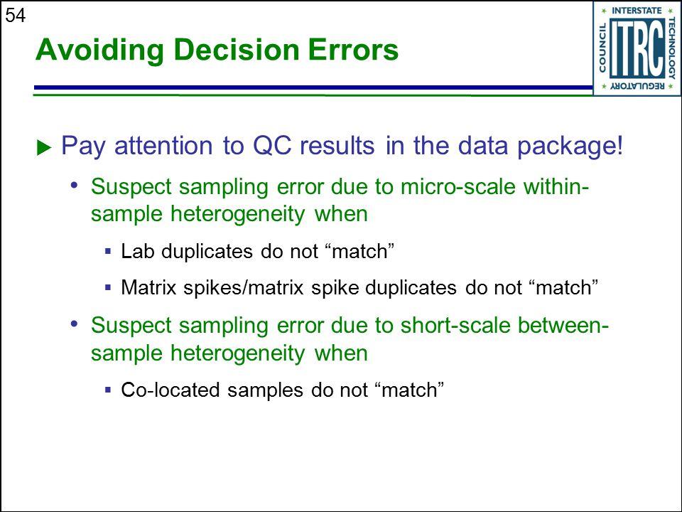 Avoiding Decision Errors