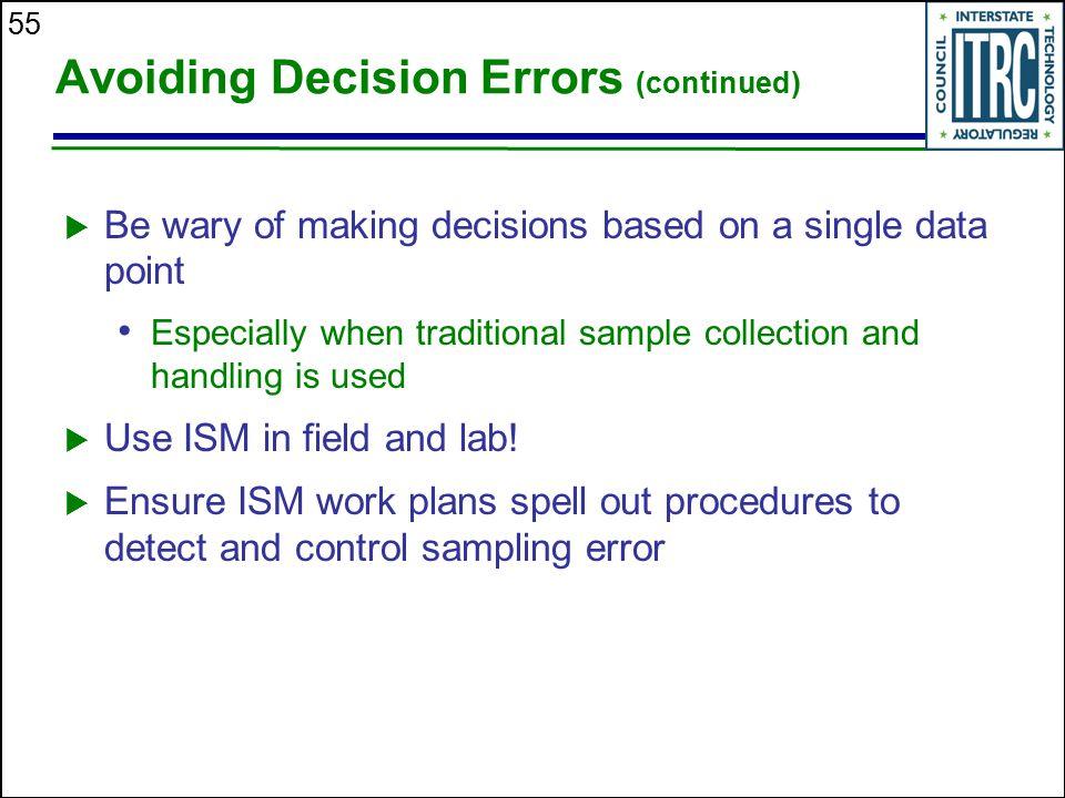 Avoiding Decision Errors (continued)