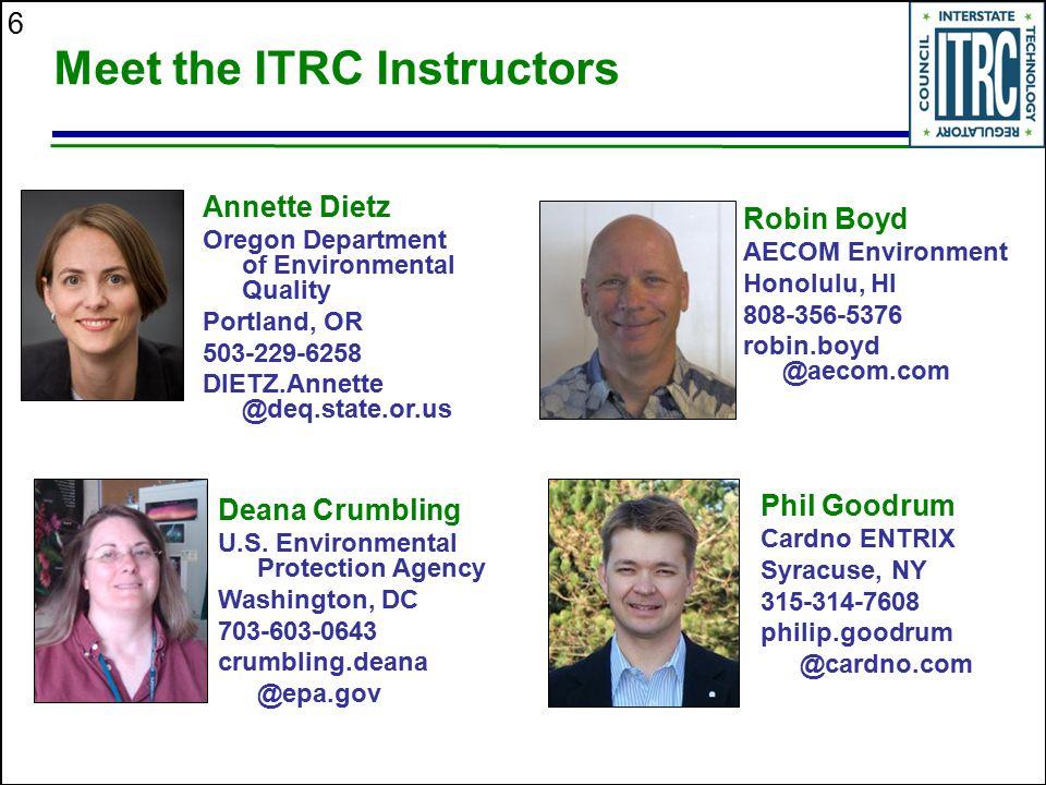 Meet the ITRC Instructors