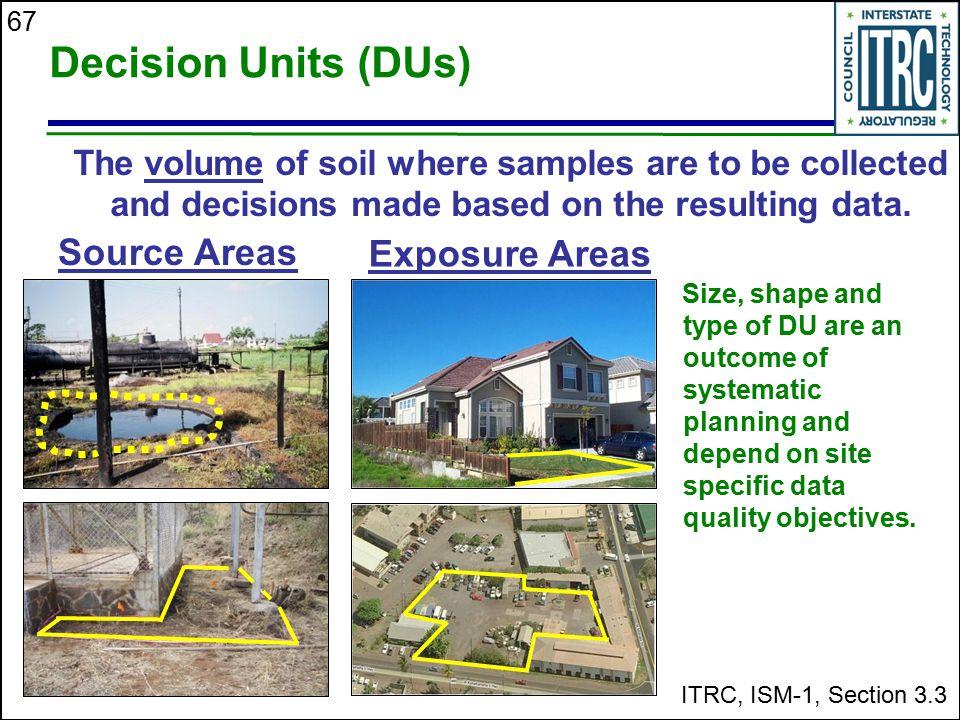 Decision Units (DUs) Source Areas Exposure Areas