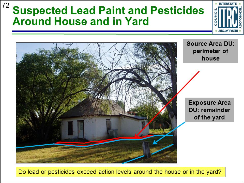 Suspected Lead Paint and Pesticides Around House and in Yard