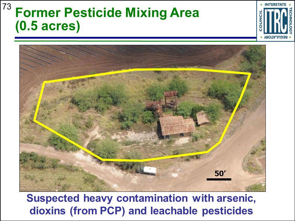 Former Pesticide Mixing Area (0.5 acres)