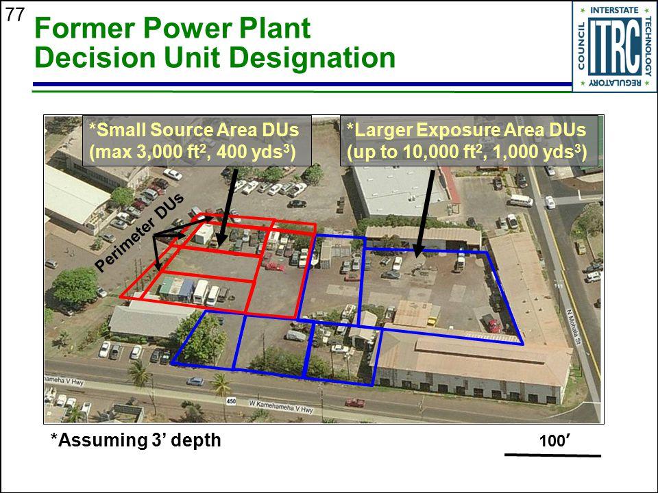 Former Power Plant Decision Unit Designation