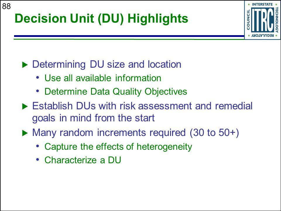 Decision Unit (DU) Highlights